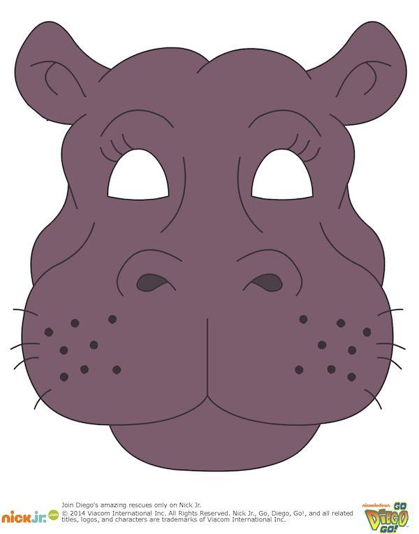 Картинки маска бегемот