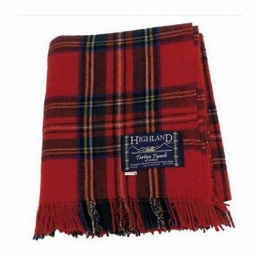 Royal Stewart Tartan Wool Blanket