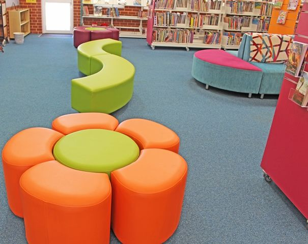 Library seating.