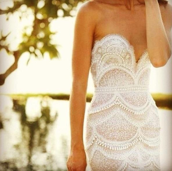 Wedding pearl white dress