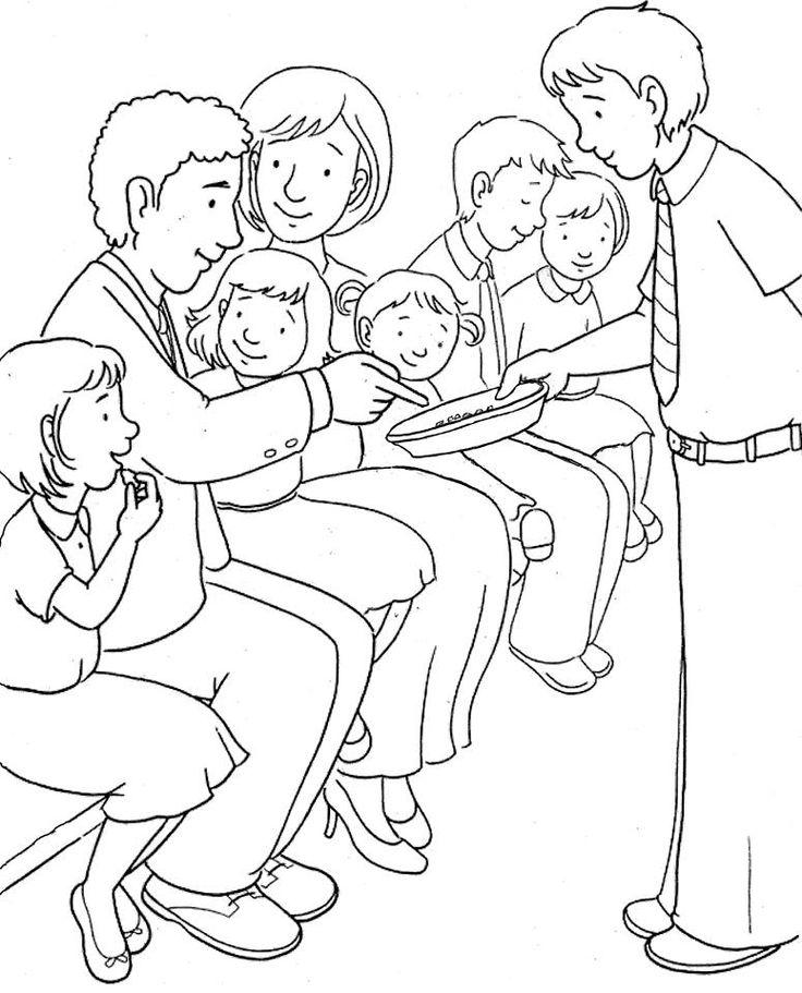 Lesson 3 & 4: Worship bulletin board- church family taking ...