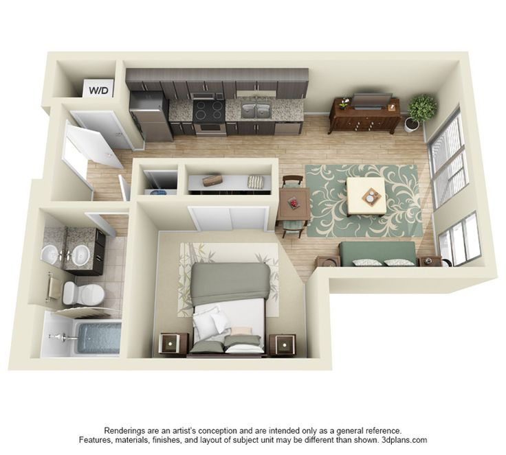 236 Best Floorplan Studio One Bedroom Images On Pinterest
