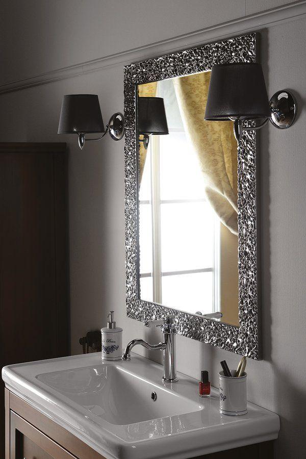 SYMPHONY zrcadlo v rámu, 750x950mm, stříbrná, SAPHO E-shop