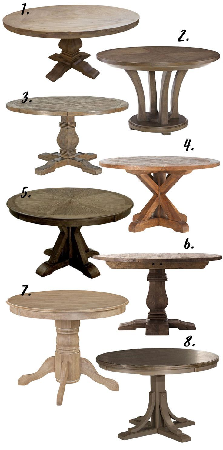Farmhouse Decor The Rustic Round Dining Table 8 Options Under 650 Hey Djangles Round Wood Dining Table Rustic Round Dining Table Round Dining Room