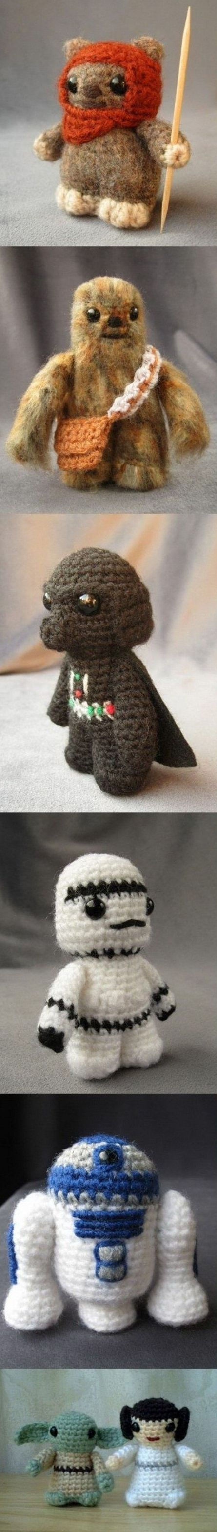 Star Wars Crochet. May need to learn how to hold two needles.