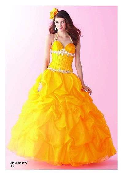 "can we say ""Beauty and the Beast?"" Alfred Angelo Disney Royal Ball Gown for Prom 5000 at frenchnovelty.com"