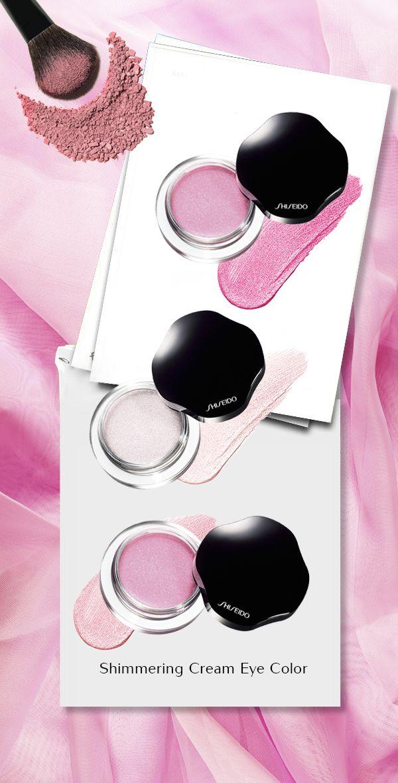 Le nuance rosa delicate degli Shimmering Cream Eye Color, ombretti in crema idratanti e luminosi. A contatto con la pelle si trasformano in polvere e donano una lunga tenuta. #Shiseido #makeup www.shiseido.it
