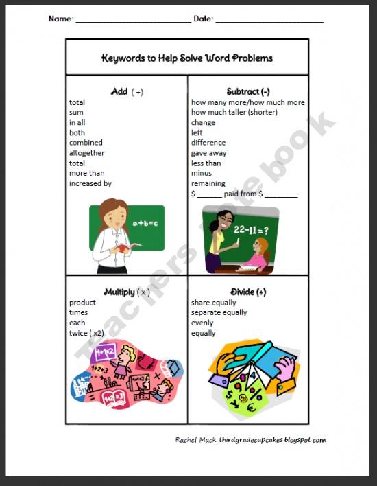 FREEBIE Math Keywords Chart product from Third-Grade-Cupcakes on TeachersNotebook.comTeachersnotebook Com, Third Grade Cupcakes, Charts Products, Math Ideas, Freebies Math, Teaching Idease Math, Teachers Notebooks, Math Keywords, Keywords Charts