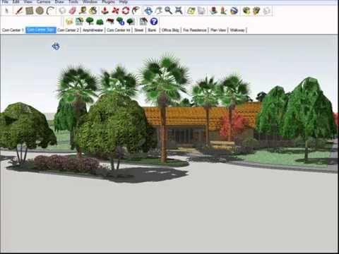 172 best sketchup 3d modeling images on pinterest for Garden design sketchup 8
