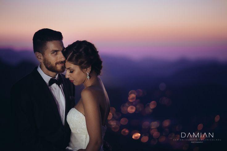 Sundown with Nektarios And Despo in the graphics Triodes mountains. Cyprus Wedding Cinematography