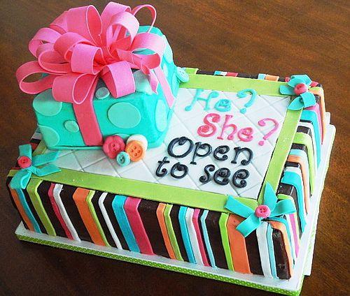 Baby Gender Reveal Cakes