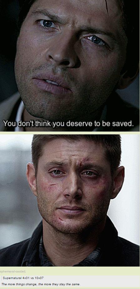 Dean's lack of self worth breaks my heart.[GIFSET] 10x07 Girls Girls Girls