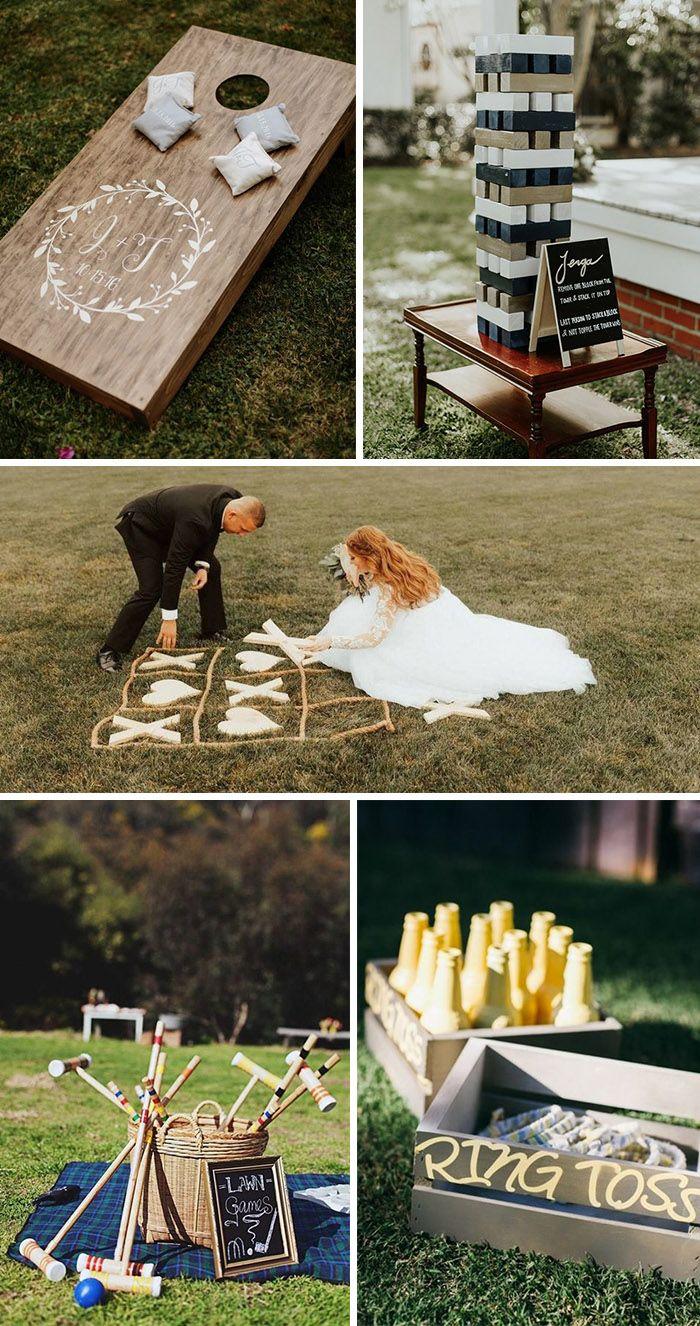 30 Ingenious Ideas For A Small Intimate Backyard Wedding On A Budget Elegantweddinginvites Com Blog Small Backyard Wedding Wedding Reception Games Wedding Games