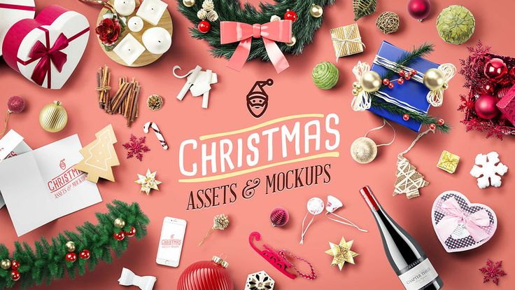 Christmas Assets And Mock Ups - Updated For 2016 on Behance