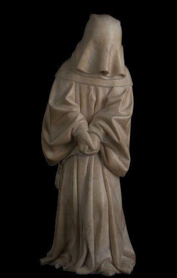 Pleurant #53 provenant du tombeau de Jean sans Peur et Marguerite de Bavière