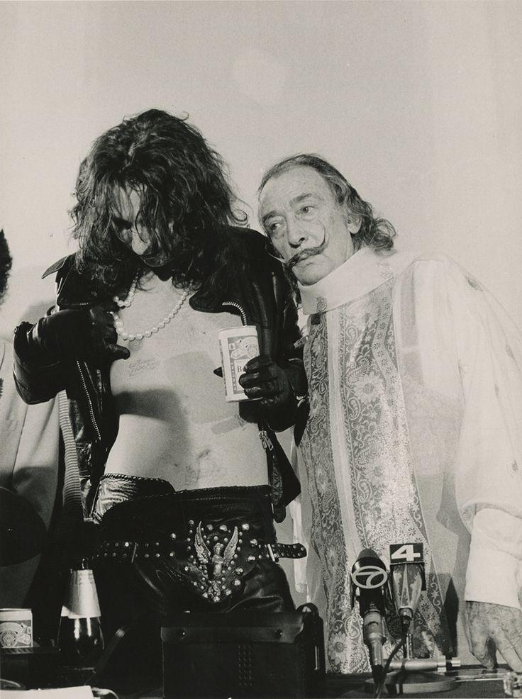 Alice Cooper and Salvador Dali