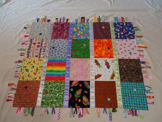 Ultimate I spy quilt sensory ribbon tag blanket children's quilt on Etsy, €287,49