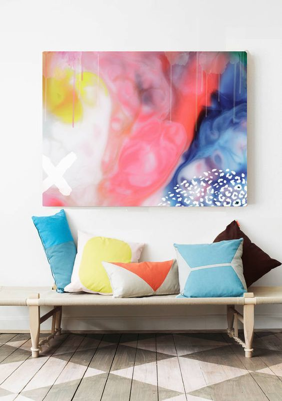 49 best Art front room images on Pinterest | Art walls, Canvas art ...