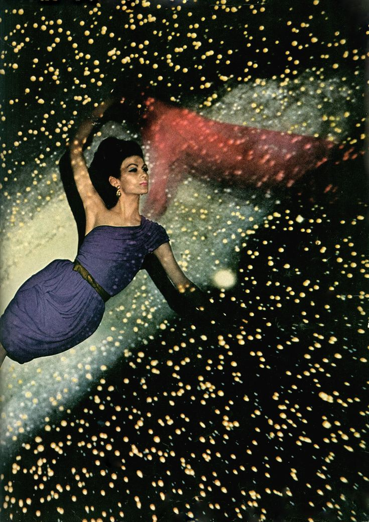 Floating against a backdrop of the galaxy, photo John Rawlings 1950
