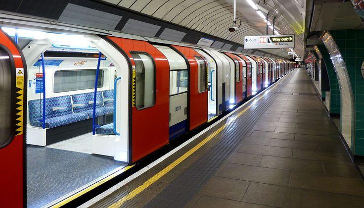 London Underground Victoria Line train at Brixton.