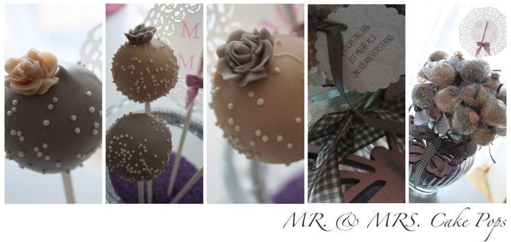 Zitronen-Waldbeer Cake Pops/Mr & Mrs