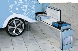 Optional pull out cooking facilities