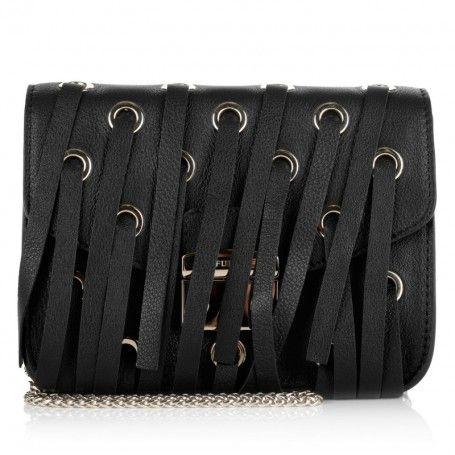 Furla Tasche – Metropolis Mini Crossbody Fringe Onyx – in schwarz – Umhängetasche für Damen