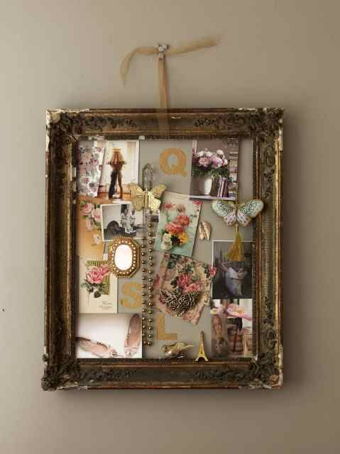 This is such a neat idea! My roommate's sister did something like this on a picture frame with her grandmother's jewelry.