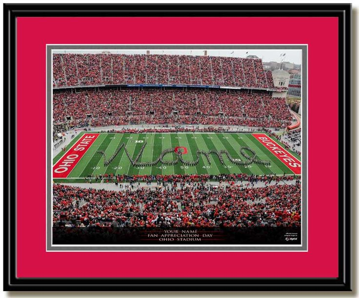 Ohio State Football Framed Pictures