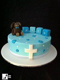 Cake Ninja, Cake Decorating Brisbane | CELEBRATION CAKES  www.cakeninja.com.au baby boy bunny clocks baptism baby shower cake
