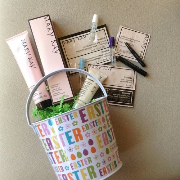 Easter Basket Extra Emollient Night Cream Bundle Full size Extra Emollient Night Cream + Samples (as pictured). All presented in Easter tin style bucket with shred. All products are new. ❌no trades price firm. Bundle discounts. Mary Kay Makeup