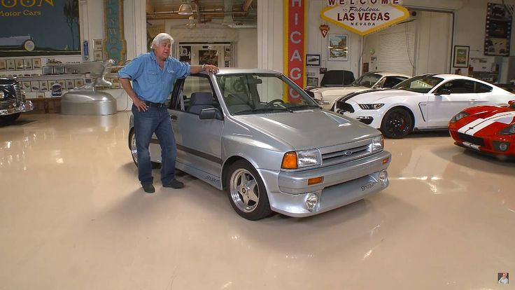 Jay Leno shows off the SHO-powered Ford Festiva. #ford #hotrod #jayleno  Read more: http://autoweek.com