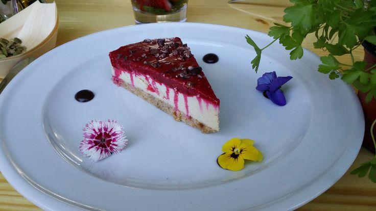 Raw Raspberry Cheesecake - paleo, raw, vegan