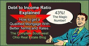 Debt to Income Ratio - The 43% Target http://www.swohiorealestate.com/blog/home-loans-debt-to-income-ratio.html #RealEstate #MortgageUpdated via @martysnyder1