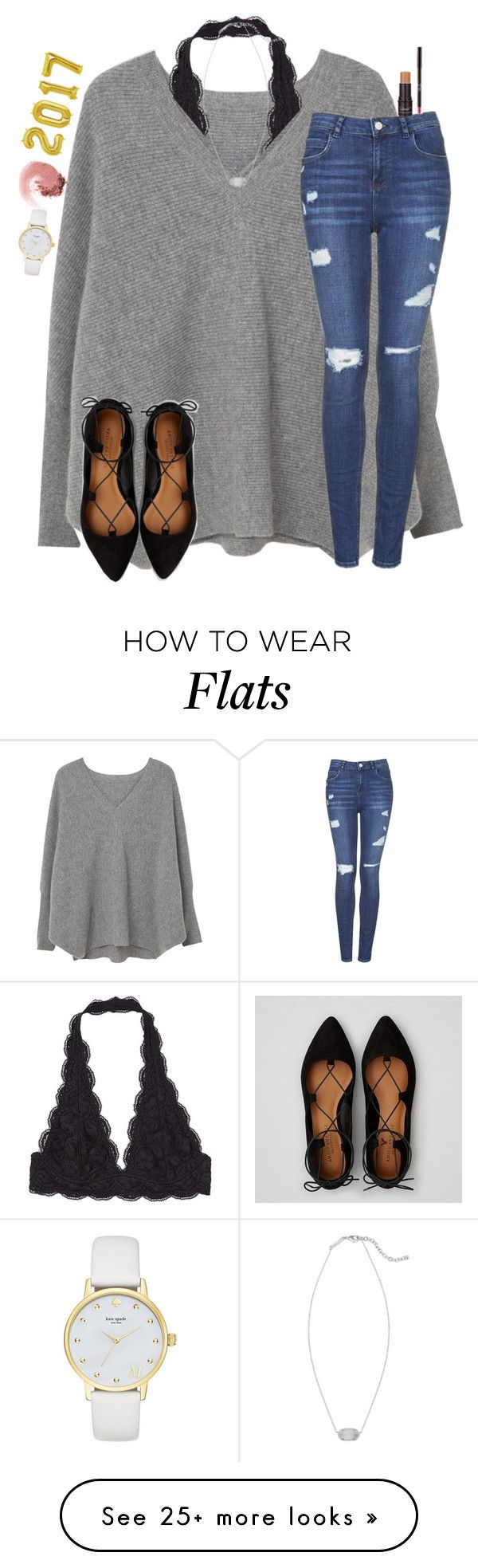 """Happy 2017 !!!!!!!"" by christyaphan on Polyvore featuring MANGO, American Eagle Outfitters, Kendra Scott, Topshop, NARS Cosmetics and Kate Spade"