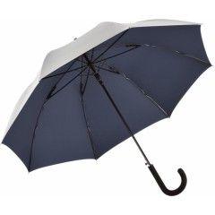 Зонт-трость Fare 7119 серебряный/темно синий