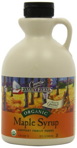 Coombs Family Farms 100% Pure Organic Maple Syrup, Grade B, 32-oz.
