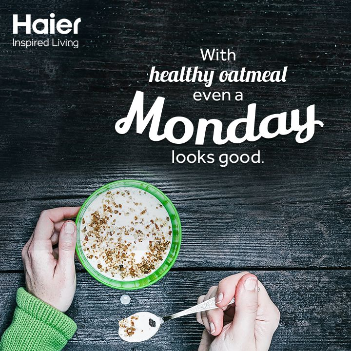 It's a nice & #healthy way to start your #Monday!  #MondayMotivation #HaierLife #Quote #Life #Health
