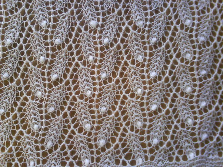 Estonian knitted lace. Willow pattern. I'm using this pattern for my first Estonian lace shawl!