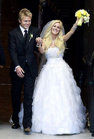 Heidi Montag and Spencer Pratt After eloping in Mexico, the Hills stars made their union official with a traditional ceremony April 25, 2009, in Pasadena, Calif.