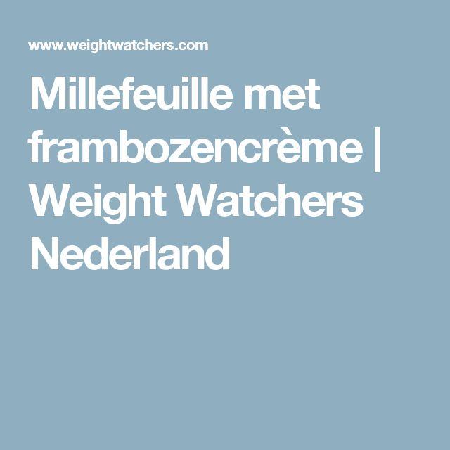 Millefeuille met frambozencrème   Weight Watchers Nederland