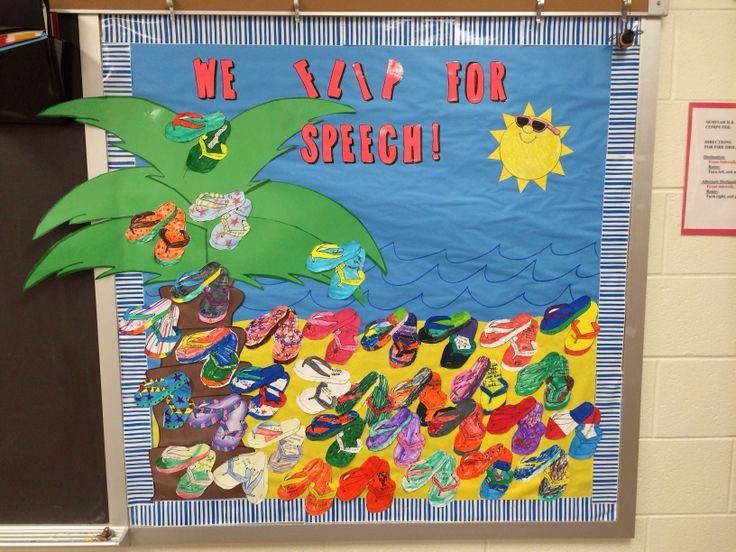 Back To School Bulletin Board Ideas For Speech Therapy Room
