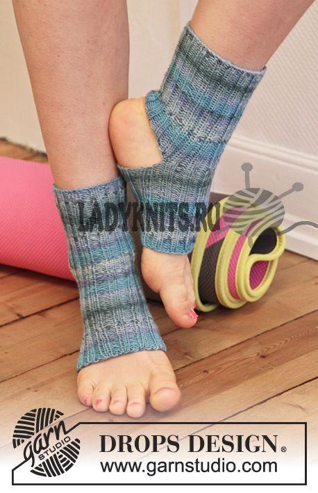 Носки для йоги вязаные спицами