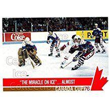 Team Canada, Team USA Hockey Card 1992 Future Trends Canada Cup 1976 #135 Team Canada, Team USA