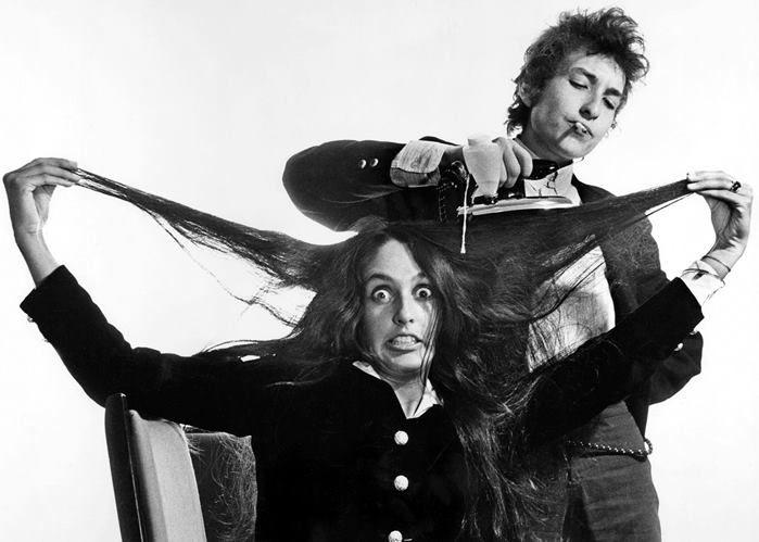 Bob Dylan & Joan Baez by Daniel Kramer, 1965