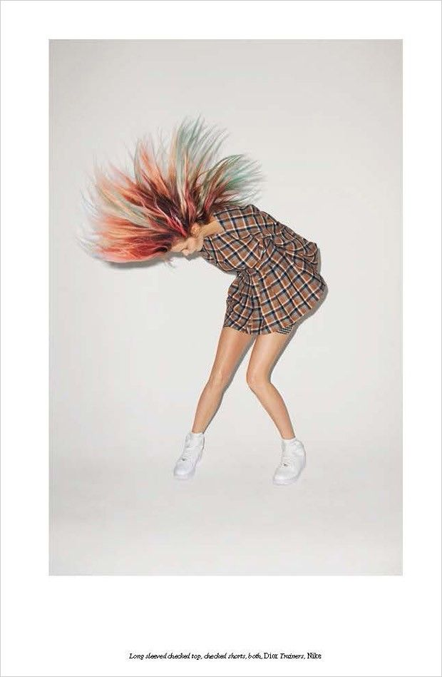 Abbey Lee @AbbeyKLee by Terry Richardson @Terry_World for Self Service @selfservicemag Fall 2015 #motion #hair #color