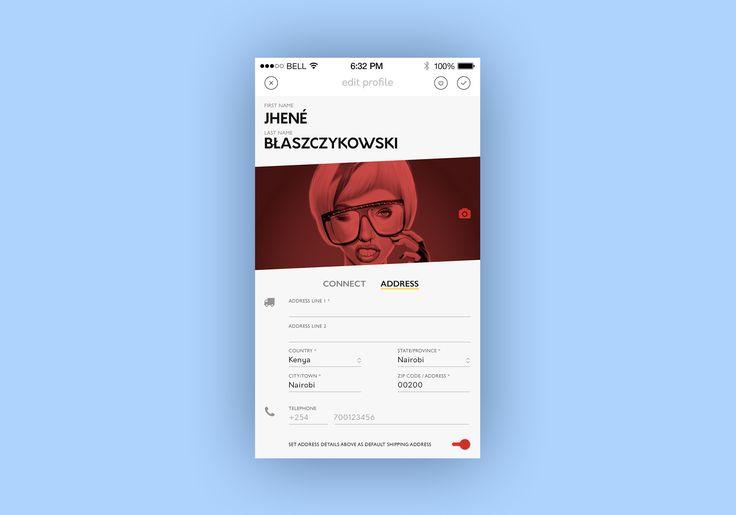 Edit profile screen – User interface by Nelson Sakwa