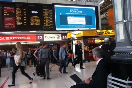 JCDecaux has launched a Twitter-driven book club in the UK to connect with commuters and use its digital screens in stations to enhance commuters' journeys. The @RailBookClub account has been live for six weeks and has around 1,600 followers. The account retweets book recommendations from its community of commuters.