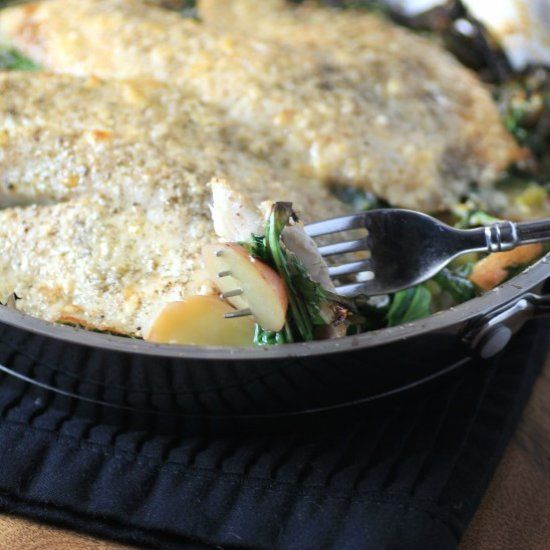 Serve Tilapia, Potatoes and Leeks for a light meal option or as a romantic dinner for two on Valentine's Day!