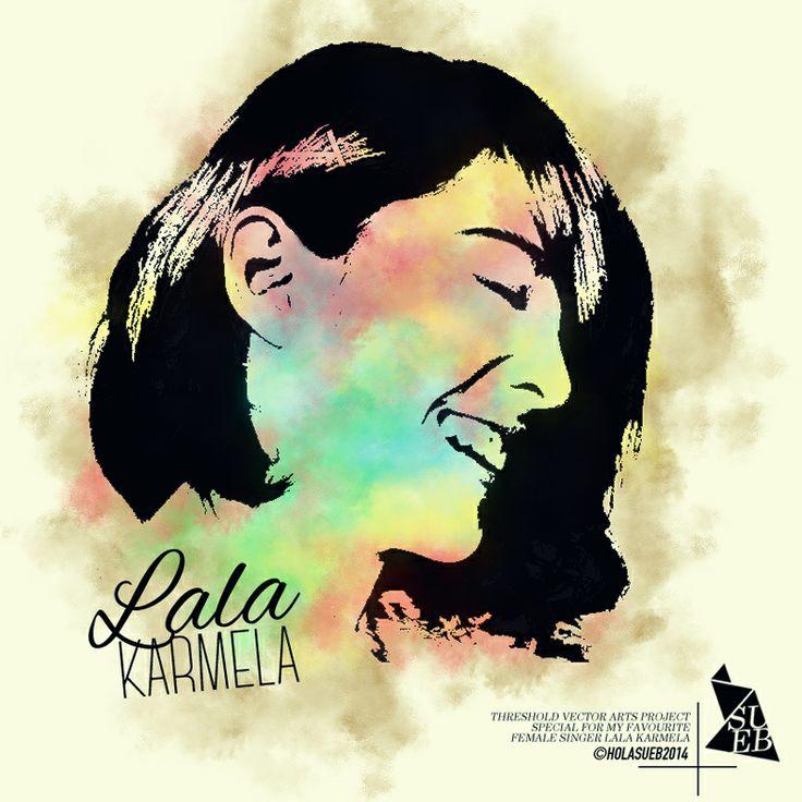 Threshold vector design | Specially for my fav   female singer @LALA karmela